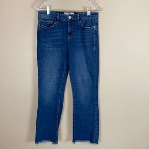 Free People Straight Leg Cropped Jeans Size 29